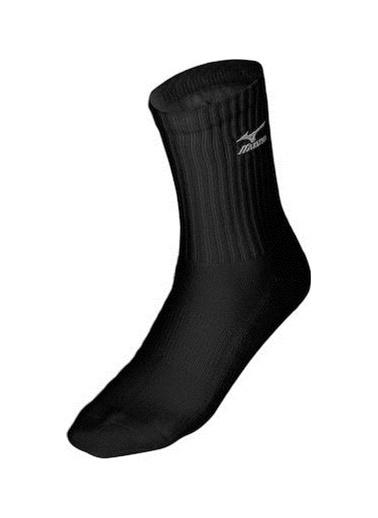 Mizuno Volley Socks Medium Unisex Çorap Siyah Siyah
